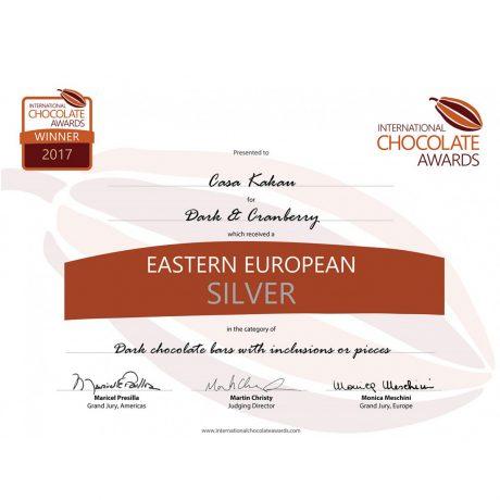 Награда на Casa Kakau за Черен Шоколад с Боровинки